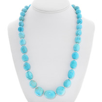 Navajo Natural Turquoise Necklace 40789