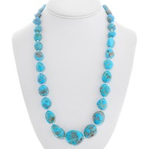 Native American Turquoise Nugget Necklace 40795