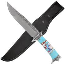 Turquoise Miro Inlay Handle Knife 40810