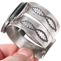 Navajo Made Silver Gold Cuff Bracelet 40828