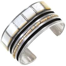 Vintage Mother of Pearl Sterling Silver Bracelet 40831