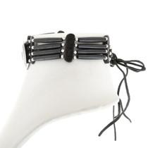 Silver Concho Bone Bead Tribal Choker 40835