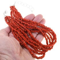Red Coral Seven Strand Necklace 40837