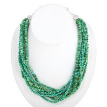 Natural Green Turquoise Beaded Necklace 40839