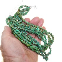 Green Turquoise Seven Strand Southwest Necklace 40841