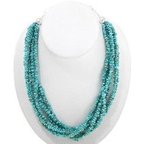 Multistrand Natural Turquoise Necklace 40846
