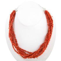 Mediterranean Branch Coral Bead Necklace 40847