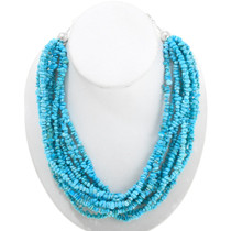 Multi-Strand Natural Turquoise Necklace 40848