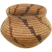 Vintage Pima Polychrome Olla Basket 40865