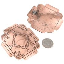 Navajo Made Western Copper Cross Earrings 40875