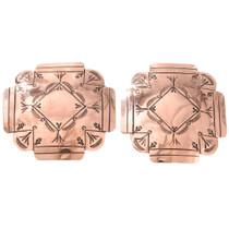 Large Native American Copper Earrings 40875