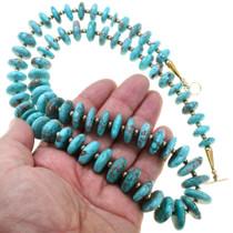 Gold Bead Arizona Turquoise Necklace 40883