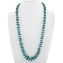 Native American Natural Turquoise Silver Necklace 40884