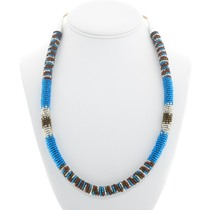 Native American Bead Wrapped Necklace 40885
