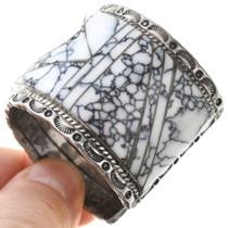 Spiderweb Howlite Cuff Bracelet 40822