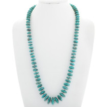 Native American Turquoise Silver Ladies Necklace 40889