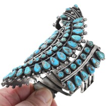 Vintage Navajo Petit Point Turquoise Bracelet 40909