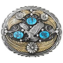 Gold Silver Eagle Belt Buckle 22610