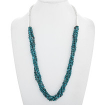 Navajo Natural Turquoise Necklace 40916