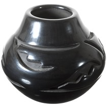 Vintage Santa Clara Blackware Pottery 40918