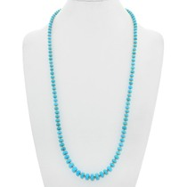 Natural Turquoise Gold Bead Navajo Necklace 40921