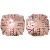 Large Navajo Copper Earrings 40926