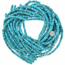 8mm Heishi Sky Blue Turquoise Bead Strand 37244