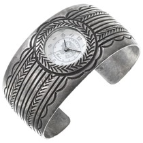 Vintage Sterling Silver Navajo Watch Cuff 40940