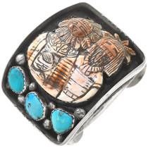 Carved Spiny Oyster Kachina Bracelet 40807