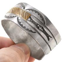 Hammered Sterling Silver Navajo Old Pawn Bracelet 40857