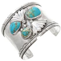 Vintage Turquoise Silver Cuff Bracelet 40811