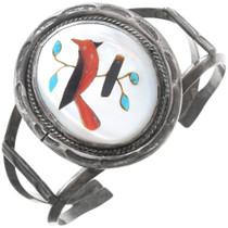 Vintage Sterling Silver Ladies Cardinal Cuff Bracelet 40808
