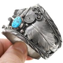 High Grade Arizona Turquoise Navajo Bracelet 40859