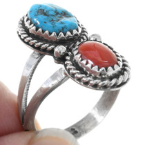 Sterling Silver Native American Turquoise Ring 40944