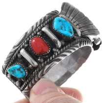 Natural Kingman Turquoise Watch Cuff 40945