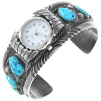 Natural Sleeping Beauty Turquoise Watch Cuff 40946