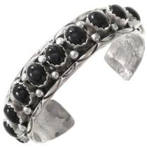 Vintage Navajo Onyx Cuff Bracelet 40862