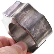 Sterling Silver Navajo Wave Design Old Pawn Bracelet 40802
