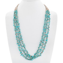 Native American Turquoise Chip Heishi Necklace 40953