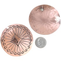 Western Large Copper Post Earrings 40958