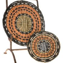 Vintage Hopi Wicker Tray Baskets 40961
