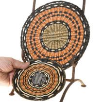 Matching Set of 2 Hopi Polychrome Basket Trays 40961