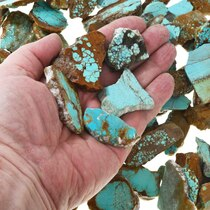 Sliced Number 8 Turquoise Rough 37154