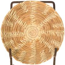 Vintage Papago Indian Split Stitch Tray Basket 40968