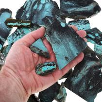 Black Spiderweb Turquoise Rough 37156