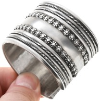 Native American All Sterling Silver Bracelet 40851