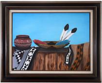 Vintage Navajo Still Life Painting 40974