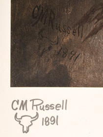 Authentic Limited Edition Charles Russel Old West Painting 40975