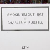 Charles Russel Painting Art Print Framed 40976