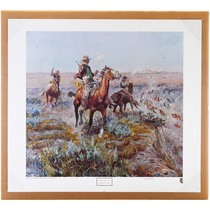 """Vintage Charles M Russell """"Smokin' Em Out"""" 40976"""